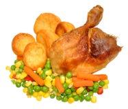 Обедающий жареного цыпленка Стоковые Фотографии RF