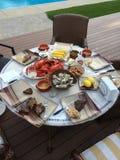 Обедающий морепродуктов Стоковое Изображение RF