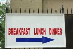 Обедающий обеда завтрака Стоковая Фотография