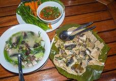 Обедающий ресторана скрещивания слона Стоковые Фото