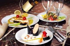 Обедающий ресторана стоковые фотографии rf