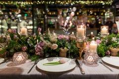 Обедающий свадьбы Стоковые Изображения RF