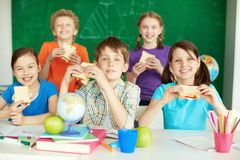Обед в школе Стоковая Фотография RF