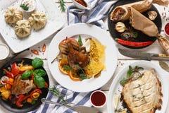 Обеденный стол с грузинской кухней Стоковые Изображения RF