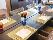 Обеденный стол для клиентов приходя к гостинице Стоковые Фото
