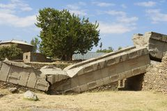 Обелиски всемирного наследия ЮНЕСКО Axum, Эфиопии Стоковые Фото