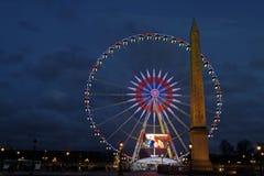 Обелиск на месте de Ла конкорд, Париж Стоковые Изображения