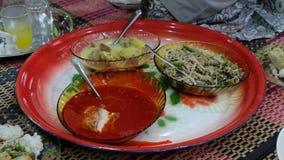 Обед комплекта Malay традиционный Стоковая Фотография RF