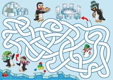 Обед на пингвинах иллюстрация вектора