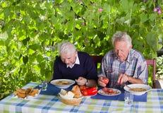 Обед на террасе Стоковое Изображение RF