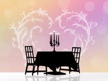 обед романтичные 2 иллюстрация штока