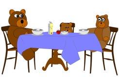 Обед семьи медведя Стоковое Изображение
