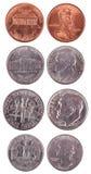 Американские монетки - Frontal стоковое изображение rf