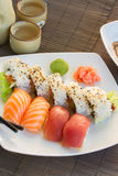 Обед с блюдом суш Стоковая Фотография RF