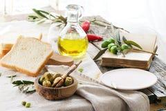 Обед с оливками Стоковая Фотография