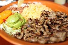 Обед asada Carne Стоковые Изображения