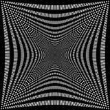Обжатая решетка линий Абстрактная картина сетки Стоковое Изображение RF