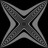 Обжатая решетка линий Абстрактная картина сетки Стоковые Фотографии RF