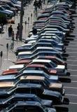 обжатая стоянка автомобилей Стоковые Фото