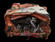 Обжатый автомобиль Стоковые Фотографии RF