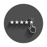 Обзоры клиента, оценка, значок вектора концепции обратной связи с пользователем бесплатная иллюстрация