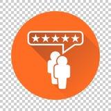 Обзоры клиента, оценка, значок вектора концепции обратной связи с пользователем fla иллюстрация штока