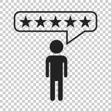 Обзоры клиента, оценка, значок вектора концепции обратной связи с пользователем fla иллюстрация вектора