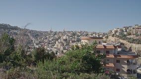 Обзор арабского города в Израиле сток-видео