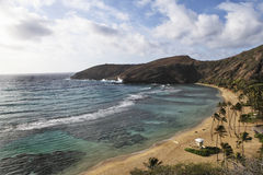 обзор Гавайских островов oahu hanauma залива Стоковая Фотография