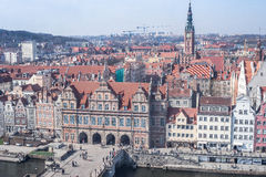 Обзор города Гданьска старый стоковое фото rf