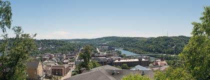 Обзор города Morgantown WV Стоковое Изображение RF