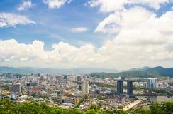Обзор города Sanya, провинции Хайнаня, Китая Стоковые Изображения