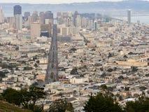 Обзор городского пейзажа Сан-Франциско Стоковое фото RF