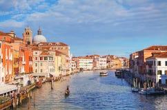 Обзор грандиозного канала в Венеции, Италии стоковое изображение