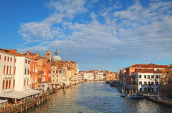 Обзор грандиозного канала в Венеции, Италии стоковое изображение rf