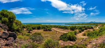 Обзор залива Orosei, Сардинии Стоковые Фото