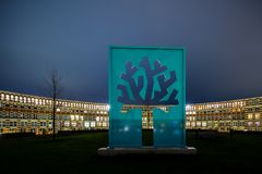 Обзор зданий на Suytkade Стоковое фото RF