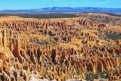 Обзор каньона Bryce стоковое изображение