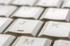Обзор на ключе клавиатуры компьютера как помощь входного сигнала стоковые фото