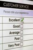 обзор обслуживания соответствия клиента он-лайн Стоковые Изображения RF