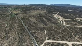 Обзор от пункта перспективы Cahuilla Tewanet, CA, США сток-видео