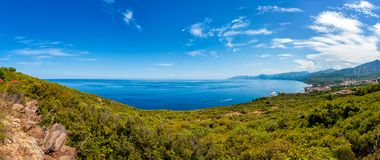 Обзор побережья Cala Gonone, Сардинии Стоковое Фото
