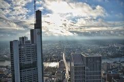 Обзор Франкфурта, Германии Стоковое фото RF