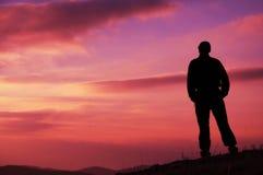 обзор человека ландшафта Стоковая Фотография RF