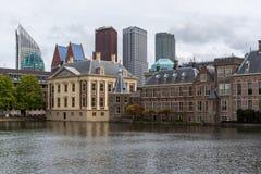 Обзор Binnenhof в Гааге Нидерландах Стоковое фото RF