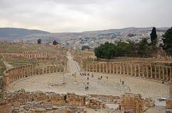 Обзор Jerash Стоковая Фотография