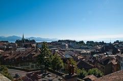 Обзор Lausanne Стоковое фото RF
