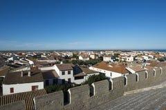 обзор Saintes-Maries-de-Ла-Mer, Франция стоковые изображения rf