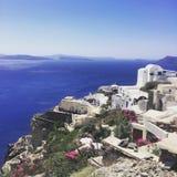 Обзор Santorini стоковая фотография rf