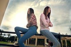 Обиденные девушки Стоковое Изображение RF